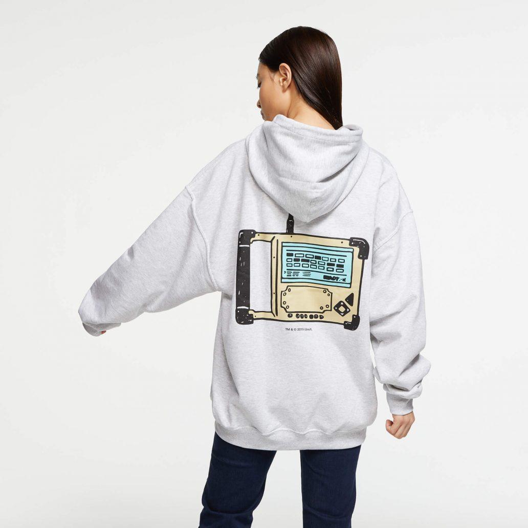 ユービーアイソフトの商品の背面の写真 6コレクション Defuser パーカ 女性モデル着用